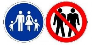 Homosexualität Verbotschild